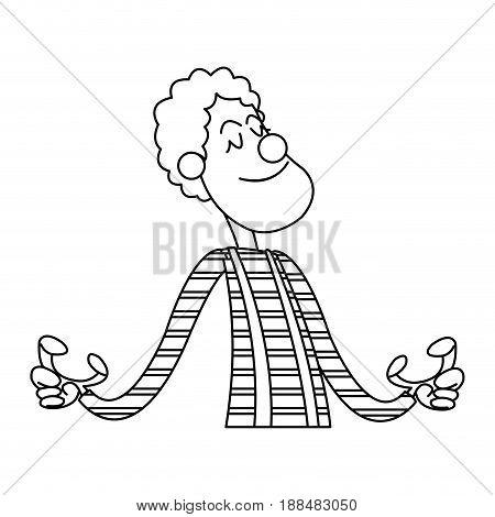character clown circus juggler cheerful image vector ilustration