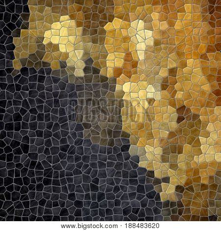 abstract nature marble plastic stony mosaic tiles texture background wit gray grout - black and gold color gradient