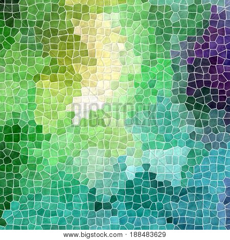 abstract nature marble plastic stony mosaic tiles texture background with white grout - fresh spring green blue purple and yellow multicolor
