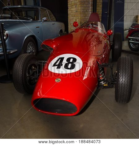 BERLIN GERMANY - MAY 17 2014: The single-seater racing car Stanguellini FJ MONOPOSTO 1100. 27th Oldtimer Day Berlin - Brandenburg