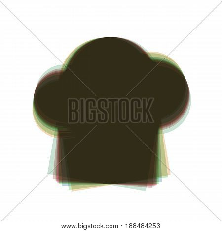 Chef cap sign. Vector. Colorful icon shaked with vertical axis at white background. Isolated.
