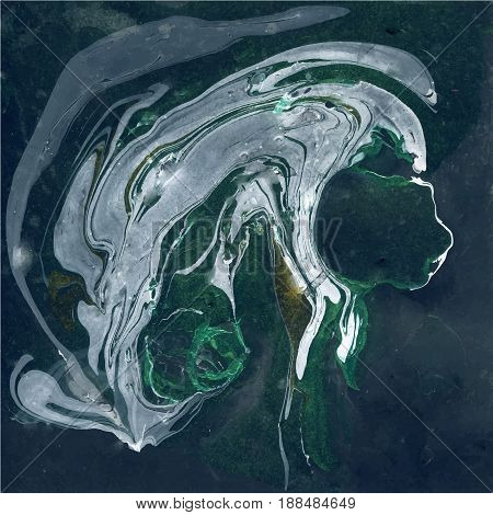 Decorative Marble Texture. Abstract painting. Trendy background for printing and websites. Color Paints on Dark Background.