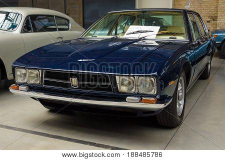 BERLIN GERMANY - MAY 17 2014: Car Iso Rivolta Fidia (1970). 27th Oldtimer Day Berlin - Brandenburg