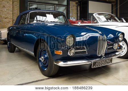 BERLIN GERMANY - MAY 17 2014: Oldtimer BMW 503 convertible. 27th Oldtimer Day Berlin - Brandenburg