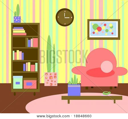 abstract graphic living room kids style