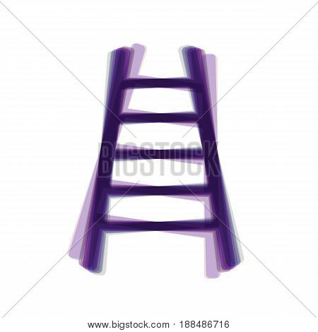 Ladder sign illustration. Vector. Colorful icon shaked with vertical axis at white background. Isolated.