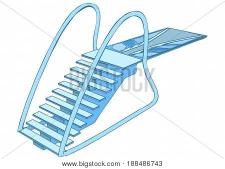 diving board isolated on a white background