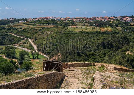Ericeira Portugal. 19 May 2017.Zambumjal Fort near Ericeira Village is part of the second line of defense of Lisbon in the Napoleonic wars.Ericeira Portugal. photography by Ricardo Rocha.