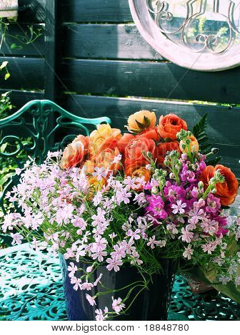 floral cross process photographic reproduction