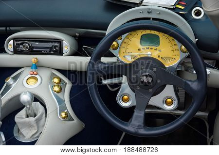 BERLIN GERMANY - MAY 17 2014: Cab of a sports car TVR Tuscan Speed 6. 27th Oldtimer Day Berlin - Brandenburg