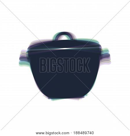 Saucepan simple sign. Vector. Colorful icon shaked with vertical axis at white background. Isolated.