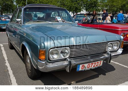 BERLIN GERMANY - MAY 17 2014: Large family car Ford 26M (P7b). 27th Oldtimer Day Berlin - Brandenburg