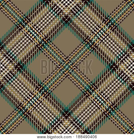 Tartan Seamless Pattern Background. Brown Green Yellow Black and White Plaid Tartan Flannel Shirt Patterns. Trendy Tiles Vector Illustration for Wallpapers