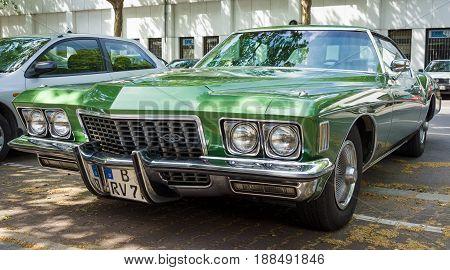 BERLIN GERMANY - MAY 17 2014: Personal luxury car Buick Riviera (Third generation). 27th Oldtimer Day Berlin - Brandenburg