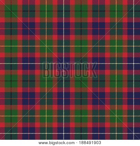 Tartan Seamless Pattern Background. Red Green Black Yellow Blue and White Plaid Tartan Flannel Shirt Patterns. Trendy Tiles Vector Illustration for Wallpapers.