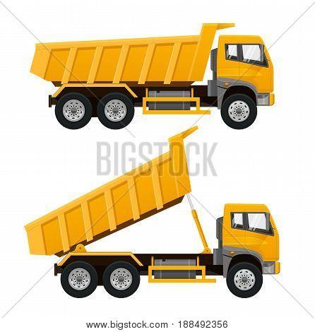 Tipper Truck. Dumper Truck. Realistic vector illustration