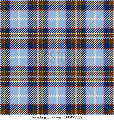 Tartan Seamless Pattern Background. Blue Red Yellow and White Plaid Tartan Flannel Shirt Patterns. Trendy Tiles Vector Illustration for Wallpapers.