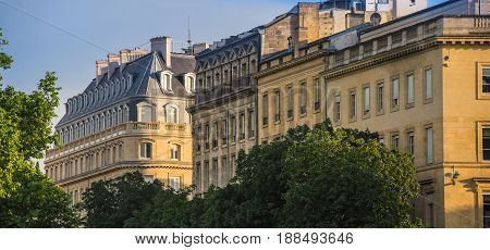 Typical Bordeaux Architecture In The Centre Of Bordeaux, France.