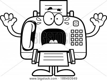 Scared Cartoon Fax Machine