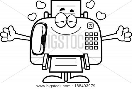 Cartoon Fax Machine Hug