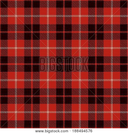Tartan Seamless Pattern Background. Red Black and White Plaid Tartan Flannel Shirt Patterns. Trendy Tiles Vector Illustration for Wallpapers.