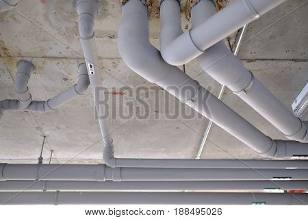 Supply Water And Sewer Pipes System