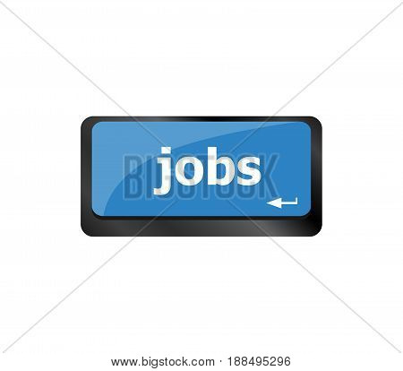 Computer Keyboard With Jobs Enter Key - Business Concept