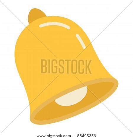School bell flat icon, ring and school, vector graphics, a colorful solid pattern on a white background, eps 10.