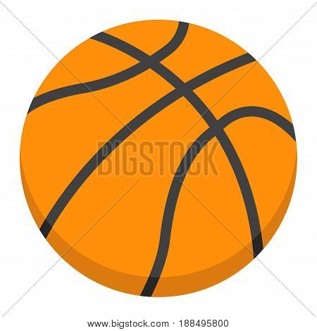 Basketball ball flat icon, sport and game, vector graphics, a colorful solid pattern on a white background, eps 10.