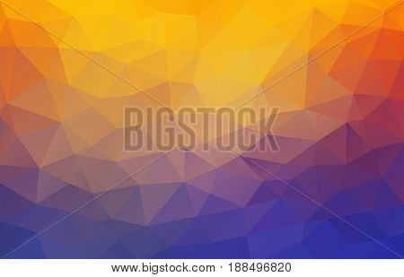 Flat 2D bright yellow and blue abstract triangle shape background for your design