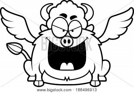 Evil Cartoon Buffalo Wings