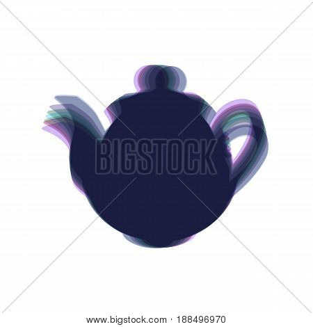 Tea maker sign. Vector. Colorful icon shaked with vertical axis at white background. Isolated.