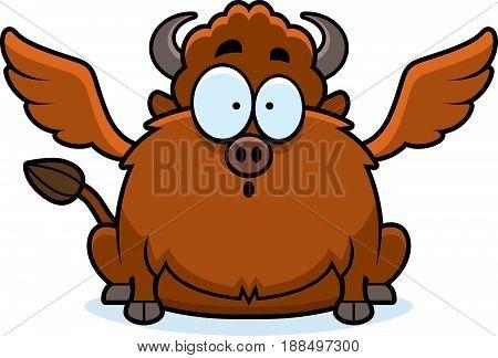 Surprised Cartoon Buffalo Wings