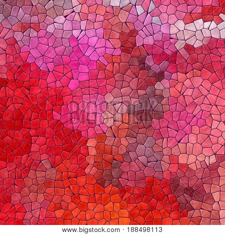 abstract nature marble plastic stony mosaic tiles texture background with purple grout - vibrant red pink and magenta colors