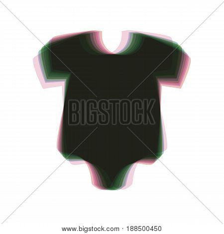 Baby cloth illustration. Vector. Colorful icon shaked with vertical axis at white background. Isolated.