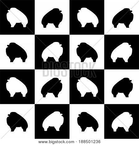isolated monochrome icon of dog breed Spitz Pomeranian