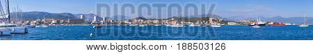 Panoramic Photo. Port Of Ajaccio, Corsica