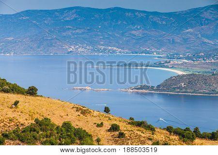 Summer Coastal Landscape Of French Mountainous