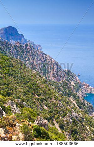 Mediterranean Island Corsica. Corse-du-sud, Piana