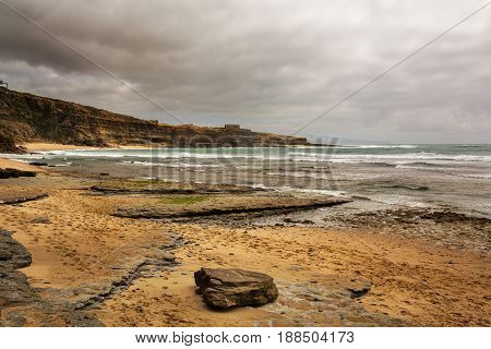Ericeira Portugal. 17 May 2017.Ribeira de Ilhas in Ericeira.Ribeira de Ilhas beach is Part of the World Surfing Reserve and its right outside Ericeira Village. Ericeira Portugal. photography by Ricardo Rocha.