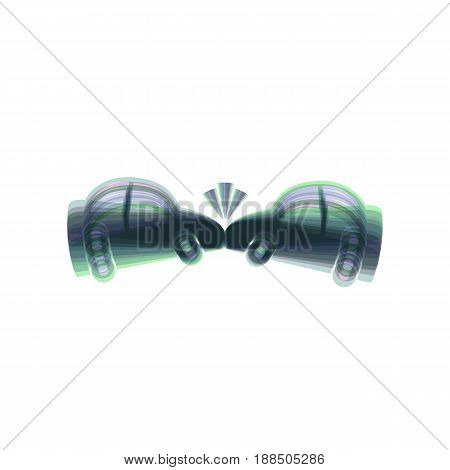 Crashed Cars sign. Vector. Colorful icon shaked with vertical axis at white background. Isolated.