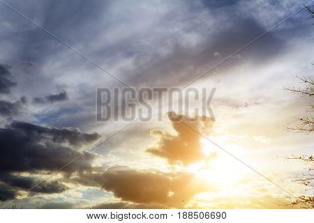 Sunset Dramatic Sky Clouds Cloud Cloudscape