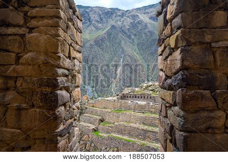 Ollantaytambo Fortress Ruins And Town Are An Important And Popular Tourist Attraction In The Sacred