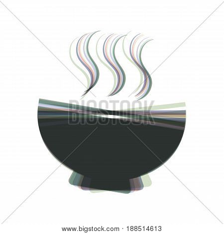 Soup sign. Vector. Colorful icon shaked with vertical axis at white background. Isolated.