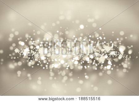 Bokeh smooth illustration with light grey colors