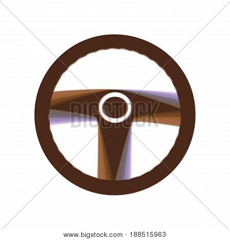 Car driver sign. Vector. Colorful icon shaked with vertical axis at white background. Isolated.