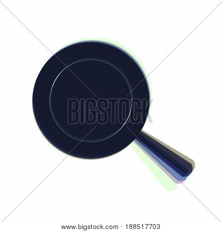 Pan sign. Vector. Colorful icon shaked with vertical axis at white background. Isolated.