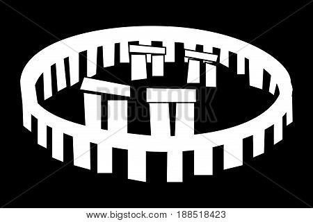 stonehenge vector icon , Stonehenge monument ,