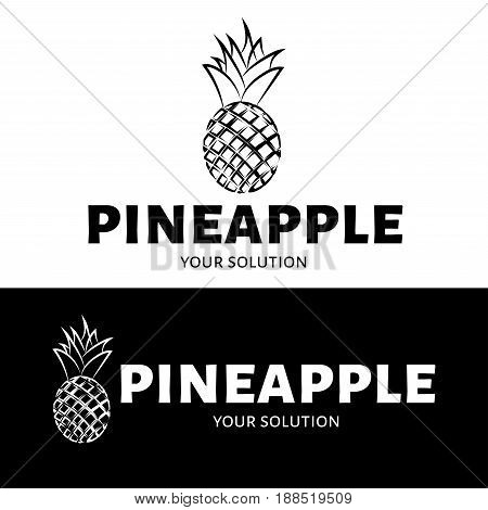 The Pineapple Logo. Brand Logo In The Shape Of A Pineapple