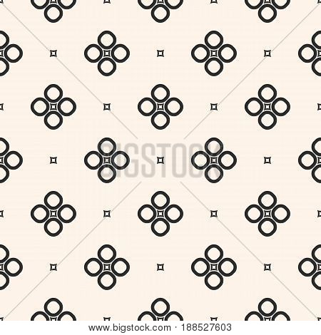 Monochrome seamless pattern, geometric vector texture, smooth outline shapes circles squares abstract background. Subtle seamless texture repeat tiles. Design element for prints seamless pattern, home abstract background, decor, textile, furniture.